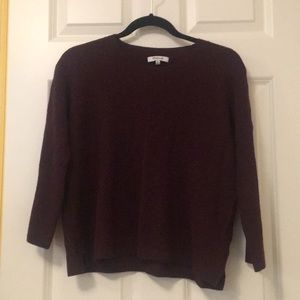 Madewell Burgundy Boxy Sweater